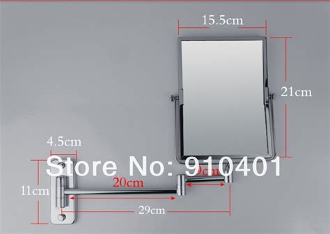 beautiful make up wall mount bathroom mirror square wholesale and retail promotion new modern square wall