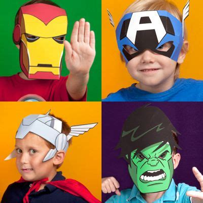 printable mask avengers printable avengers masks for kids children s paper toys