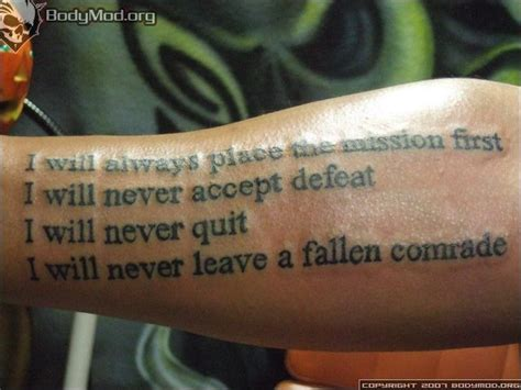tattoo quotes for warriors u s army warrior ethos tattoos pinterest