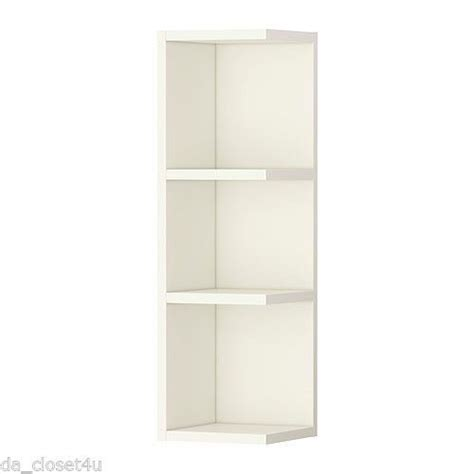 Corner Shelf Bathroom Storage Ikea Corner Shelf Wall End Unit Cabinet Open Bathroom Storage Llilangen White