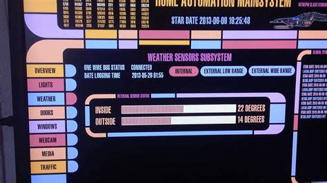 home automation with raspberry pi trek lcars gui