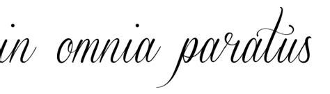 in omnia paratus tattoo quot in omnia paratus quot font free scetch