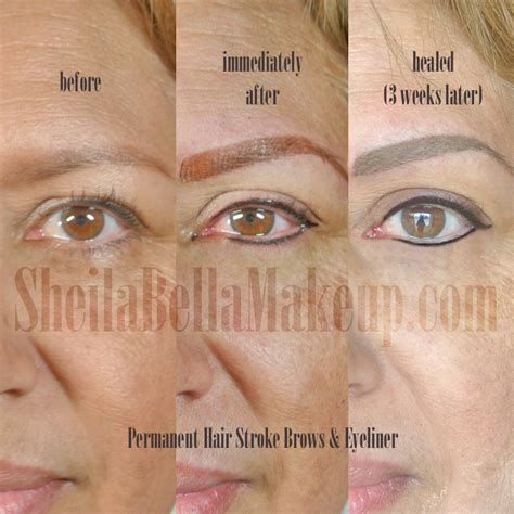 tattooed eyebrows healing process the progress of permanent makeup permanent