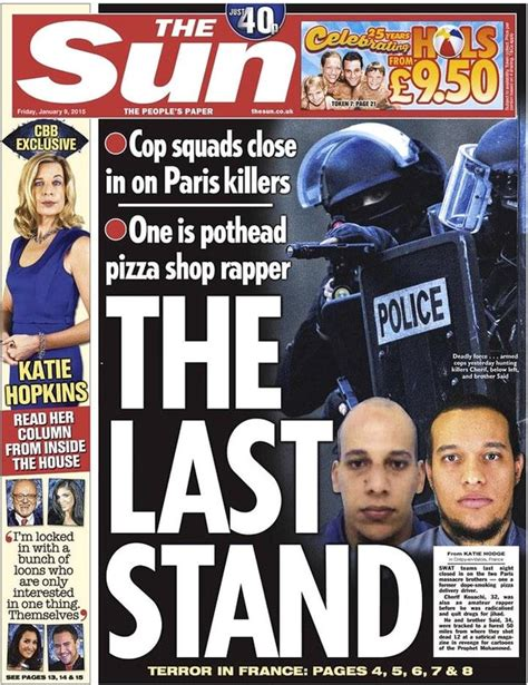 the sun uk front page for thursday 10 december 2015 newspaper headlines charlie hebdo attack tv debates and