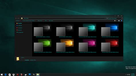 themes for windows 10 1709 windows black edition theme for windows 10 rtm windows10