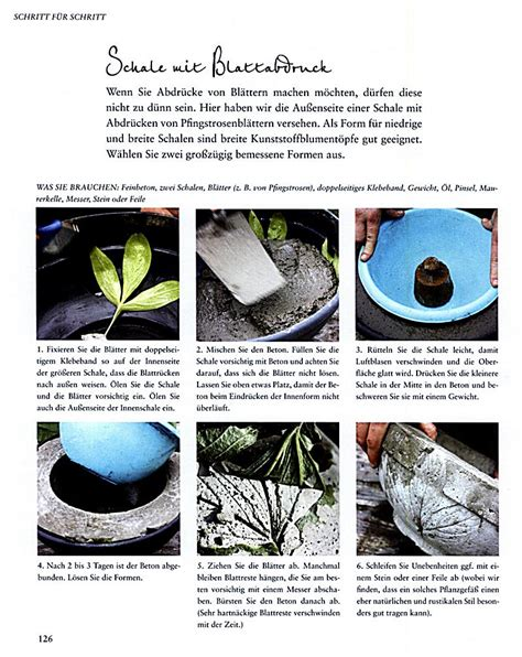 gartendeko aus beton selbst gemacht