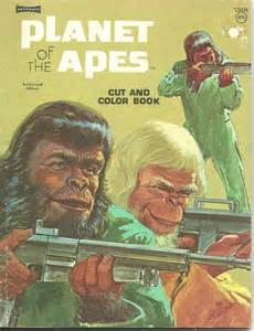 Vanity Planet Book Of Color New Vintage 1974 Planet Of The Apes Artcraft Cut And Color