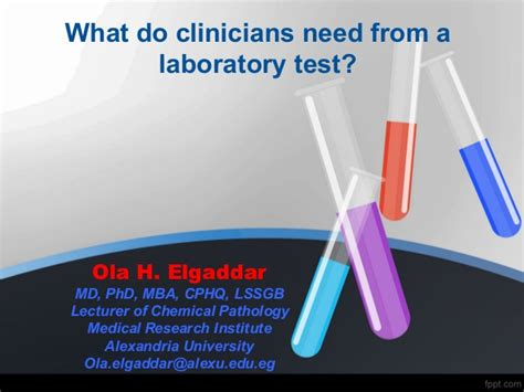 Mba Lab Test by What Do Clinicians Need To About Lab Tests