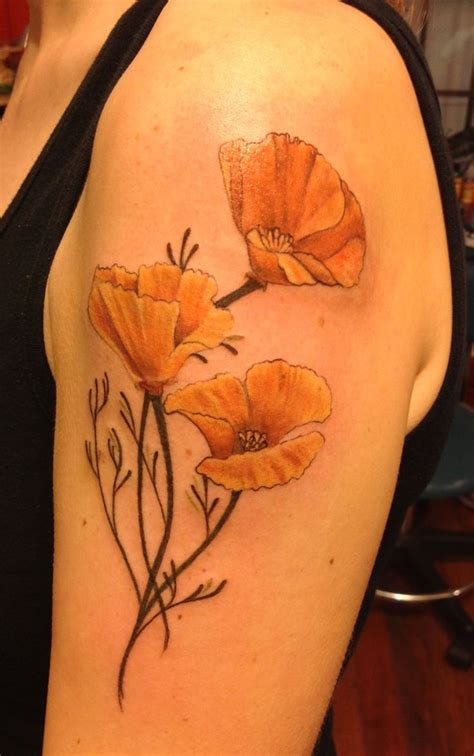 poppycock tattoo best 25 california poppy ideas on