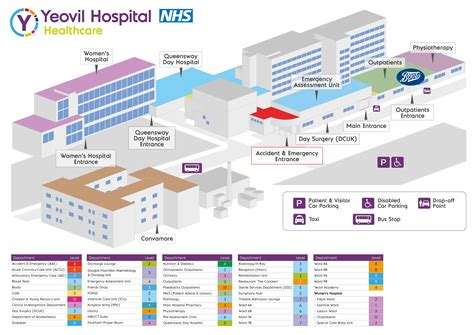 floor plan hospital map and floor plan of hospital yeovil district hospital