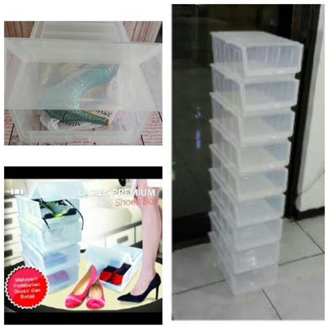 Kotak Sepatu Sandal Transparan jual kotak sepatu rak sepatu sepatu heels wanita