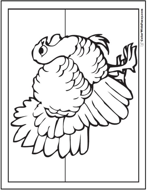 simple turkey coloring page simple thanksgiving coloring page customizable pdf