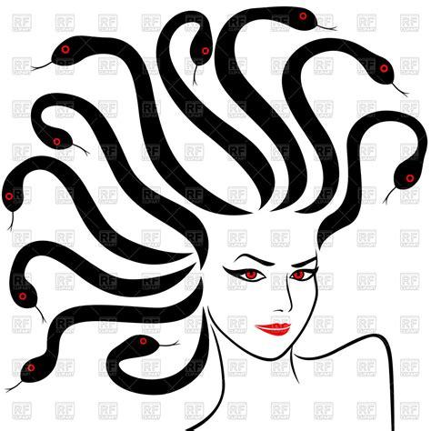 medusa clipart of medusa gorgon with snakes instead hair