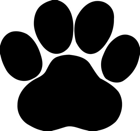 File Black Paw Svg Wikimedia Commons Paw Print Silhouette