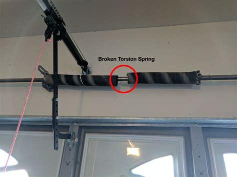 how to open a garage door with a broken spring