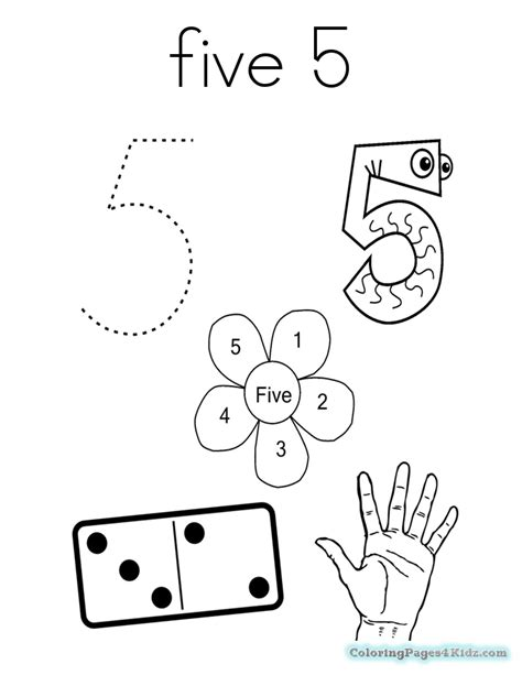 Number 5 Coloring Pages For Toddlers by Number 5 Dice Coloring Page Free Printable Coloring Pages
