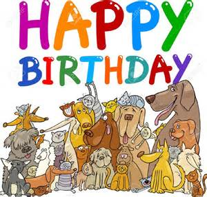 happy birthday dog clipart clipartsgram