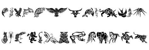 tattoo lettering tribal design tribal animals tattoo designs font