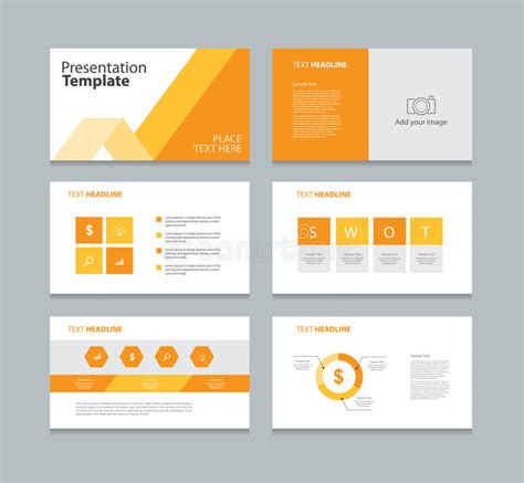 element layout template is not supported page presentation layout design template stock vector