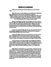 Of A Salesman Setting Essay by Of A Salesman Plot Summary Gcse Drama Marked By Teachers