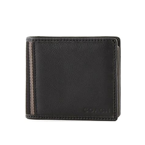 Black Walet Coach Hwl Id Coin Wallet 74617 Black Swish Wallets For