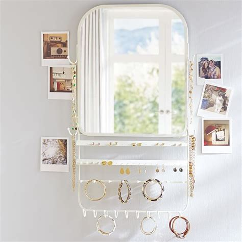 The Door Mirror Jewelry Organizer the door jewelry organizer mirror pbteen