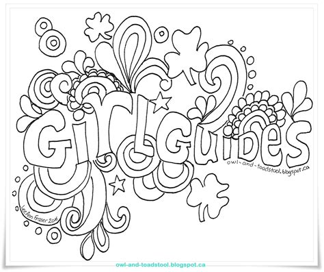 Guide Trefoil Outline by Canadian Guiding Brownie Flag Clipart