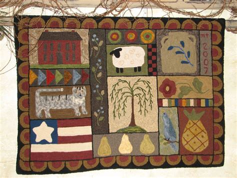 primitive rug hooking primitive rug hooking patterns best decor things