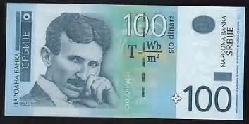 Does Tesla Make Money Nikola Tesla Paper Money Serbia 2013 100 Dinara