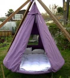 hanging outdoor bed tent