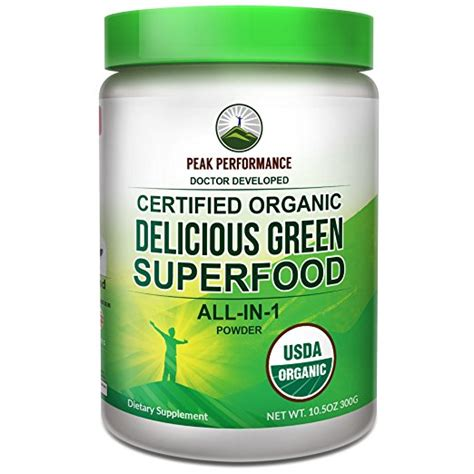 Best Green Powder Drink For Detox peak performance organic greens superfood powder best