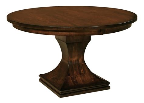 Single Table by Amish Westin Single Pedestal Dining Table