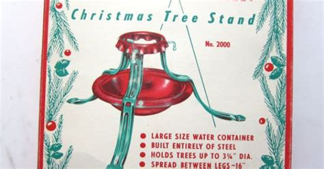 vintage 60s north star christmas tree stand new in box