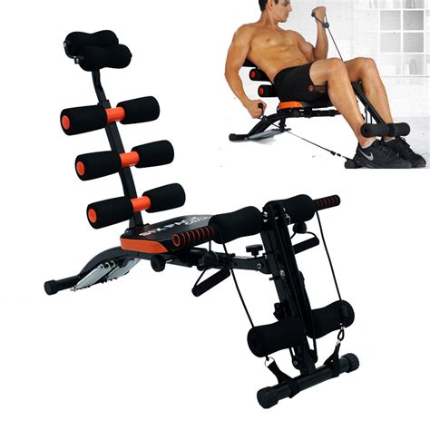 6 in 1 home six pack care ab rocket exercise bench