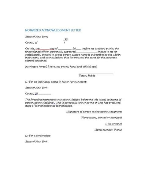 York Verification Letter 30 Professional Notarized Letter Templates Template Lab