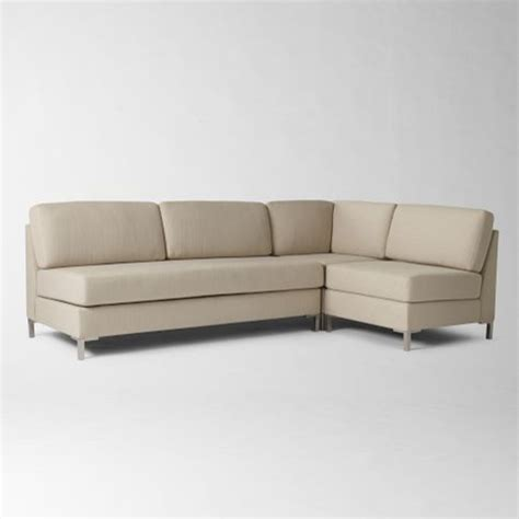 Armless Sectional Sofa Armless Sectional Contemporary Sectional Sofas By West Elm