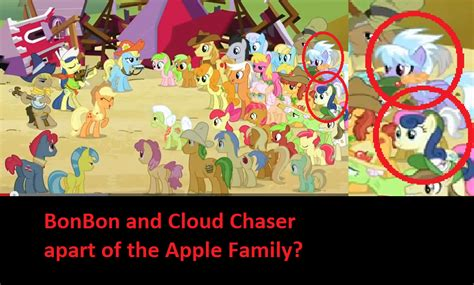 apple family bonbon and cloudchaser in the apple family by
