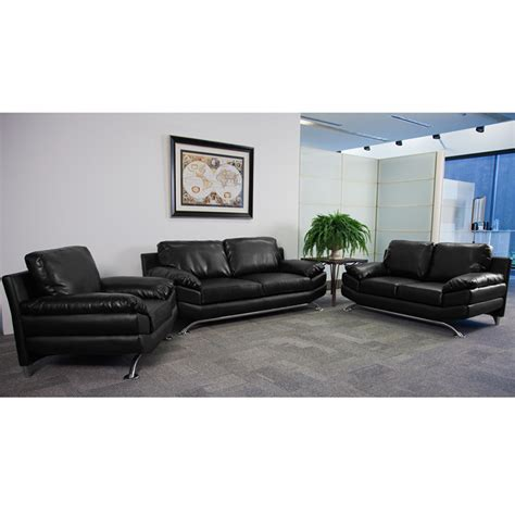 Reception Sofa Set by 3pc Modern Leather Office Reception Sofa Set Ff 0475 12