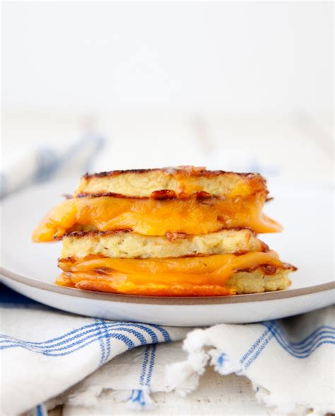 cauliflower grilled cheese cauliflower crusted grilled cheese weelicious