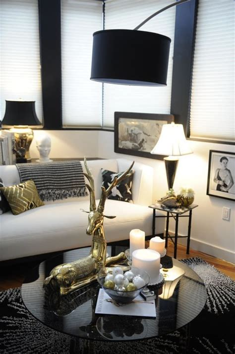 black white and gold home decor black white gold glam living room just decorate