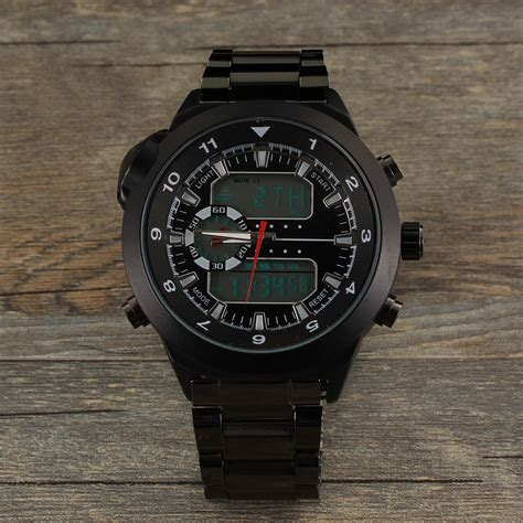 multi functional steel band compass watches