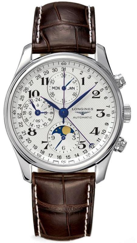 Longines Master Moonphase Chronograph longines l2 773 4 78 3 master collection moonphase s watchmaxx