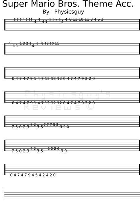 tutorial guitar mario bros super mario bros theme tab accompany watermarked png 640