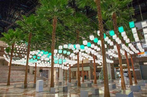 winter garden outdoor shopping rockwell lights up brookfield place new york with