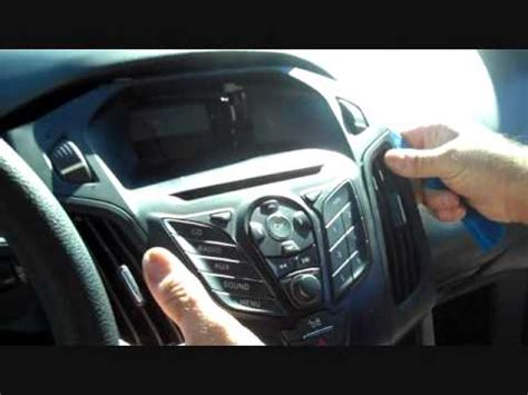 ford focus car stereo removal   replace