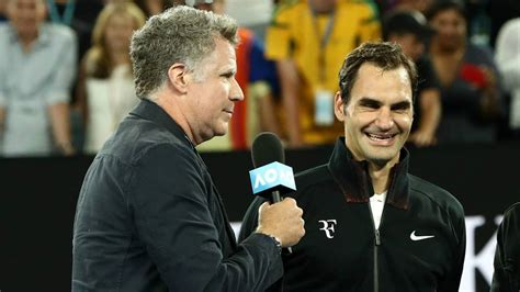 will ferrell interview will ferrell hilariously interviews roger federer at 2018