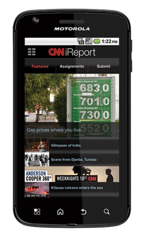 cnn mobil cnn app unveiled for android phones cnn ireport