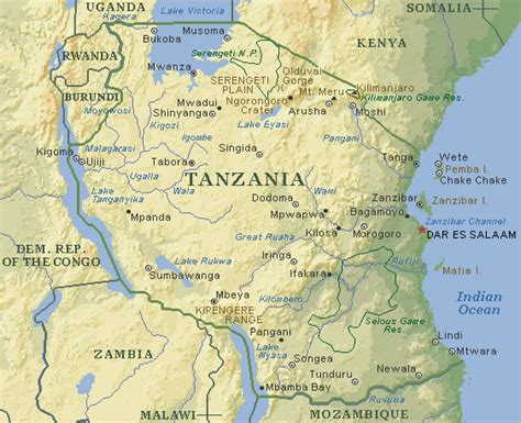 5 Themes Of Geography Tanzania | geog 1202 tanzania s physical geography present and future