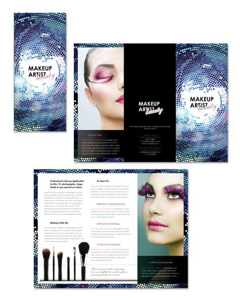 Makeup Artist Tri Fold Brochure Template