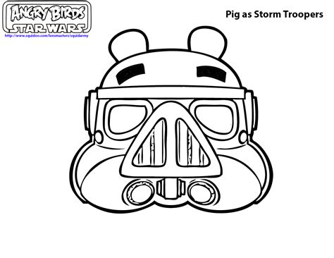Angry Birds Star Wars Coloring Page Coloring Pages Angry Birds Wars